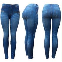 Leggins Tipo Jeans Tela Gruesa Pantalón Oferta