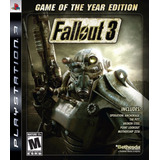 Fallout 3 Game Of The Year Goty Nuevo Ps3 Dakmor Canje/venta