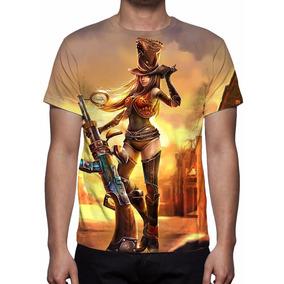 Camisa, Camiseta League Of Legends - Xerife Caitlyn