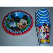 Platos Vasos Desechables Articulos Fiesta Mickey Mouse