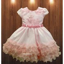 Vestido Infantil Luxo Princesa Florista Daminha E Tiara