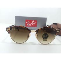Oculos De Sol Ray Ban 4246 Clubmaster Redondo Originais