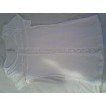 Blusa Cotton Licra Color Blanco Talla S