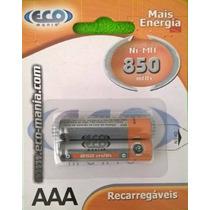 Blister D 2 Baterias Pilas Recargable Aaa 850 Mah Ni-mh 1.2v