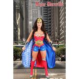 Disfraz Mujer Maravilla Adulta Completo Envio Gratis