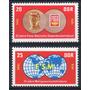 D D R 1970 Mi 1577/78** Yv 1268/69 Mint Sindicatos Libres