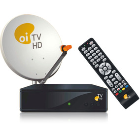 Kit Oi Tv Livre Hd (antena Logomarca Sky)+cabo20metros+conec