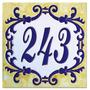 Número Para Residência | Azulejo Decorada | Número Cerâmico