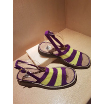 Zapatos Sandalias Tejidos A Mano Unisex Talla 8