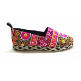 Natacha Zapato Mujer Alpargatas Tela Hindú #1441