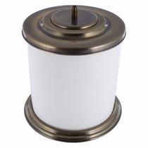 Cesto De Lixo - Branco C/ Bronze