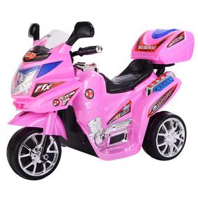 Moto De Juguete Batería 6v Para Niñas Rosa 3 Ruedas