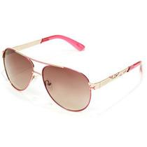 Lentes Guess Pop Color Aviator Pink+ Case Guess Gratis