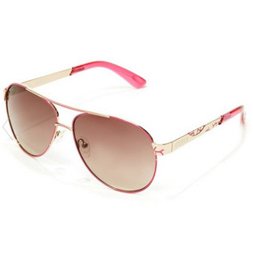 Lentes Guess Pop Color Aviator Pink+ Case Guess Gratis
