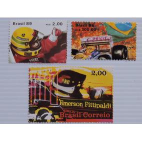 Senna Fittipaldi Piquet 3 Selos Novos 1971/88/89