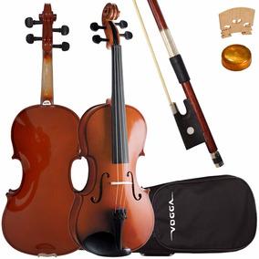 Violino 4/4 Vogga Von144 Crina Animal Breu Estojo Clássico