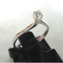 Anel Prata 925 Modelo Solitário Compromiço Noivado