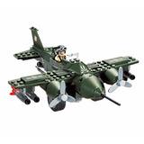Avião De Guerra Americano + Acessórios - Compatível Lego