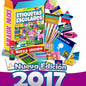Kit Etiquetas Escolares Personalizadas Editables 5gb 2017 V3