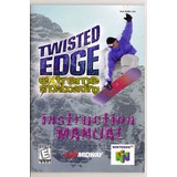 Man Ual Del Juego Twisted Edge -original- Nintendo 64 N64