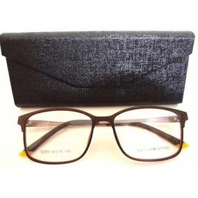 Armação Óculos Grau Ea5009 Preto E Amarelo Unissex+ Case