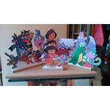 Dora Aventureira Kit De Decoração De Festa 10 Mini Display