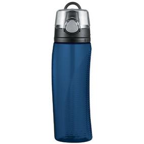 Termo Nissan Intak Hidratación De Agua Con Medidor, Azul