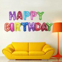 Globos Colores Helio Feliz Cumpleaños 13 Piezas 40cm