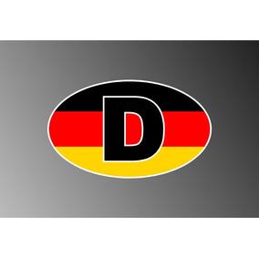 Stiker Vinil Bandera Alemana Con La Letra D (deutchland)