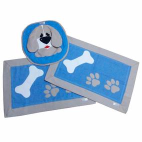 Jogo De Tapete Para Banheiros 3 Peças Patchwork Cachorro