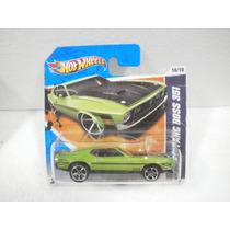 Hot Wheels 71 Mustang Boss 351 Verde 90/244 2011 Tc