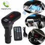 Transmisor Fm Bluetooth Mp3 Usb/sd Cargador Usb 2.1 Control