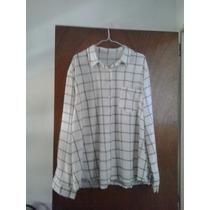 Camisas A Cuadros Talle 58 Blanca Y Negra