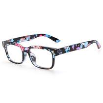 Armação Óculos De Grau Quadrado Grande Floral Feminino Ca