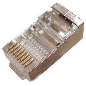 Conector Rj45 Cat6 Blindado Pacote Com 100pçs Lancamento