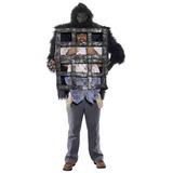 Disfraz Gorila Del Foro Novedades De Los Hombres Con Jaula