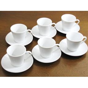 Jogo Xícara Café 12 Pçs Porcelana 70 Ml Conjunto Cafezinho
