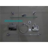 Kit Acess Banheiro Inox C/ Porta Shampoo 40cm Pronta Entrega