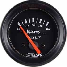 Voltímetro Willtec 52mm Carga Bateria Painel Carro Relógio
