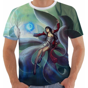 Camiseta Baby Look Game League Of Legends Ahri Lol Color