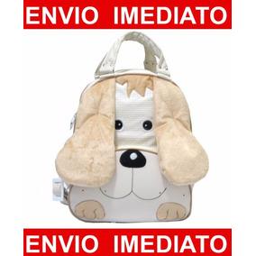 Mochila Infantil Cachorro - Menino - Mochila De Bebê - G