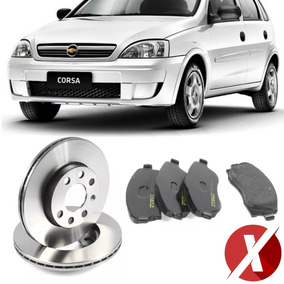 Kit Disco + Pastilha Dianteira Gm Corsa Hatch Maxx 1.4 2008