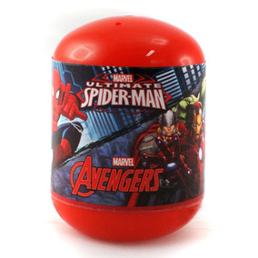 2 X Vingadores Marvel Ovo Supresa Bonecos De 4 Cm Dtc 3620