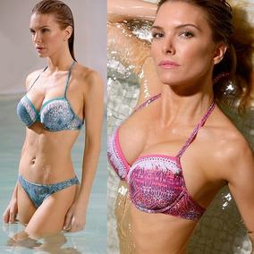 Bikini Marcela Koury 2017 Soft Push Con Flecos Y Vedetina
