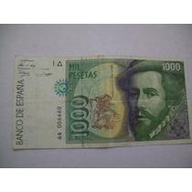 Antiguo Billete España 1000 Pesetas Serie 6q006660
