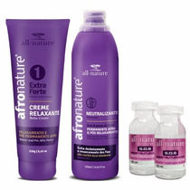 Kit Relaxamento Capilar (extra Forte) Afro Nature/all Nature