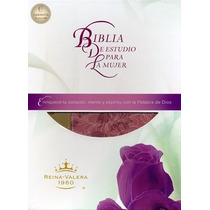 Biblia Para La Mujer, Letra Grande Sentipiel Rosa/café