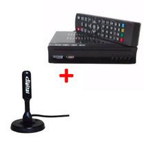 Kit Conversor De Sinal Analógico Para Digital + Antena Digit