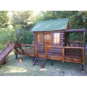 casas para chicos cabaa de troncos con tobogn