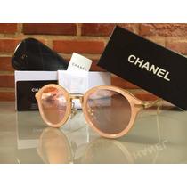 Oculos De Sol Feminino Chanel Redondo - Original